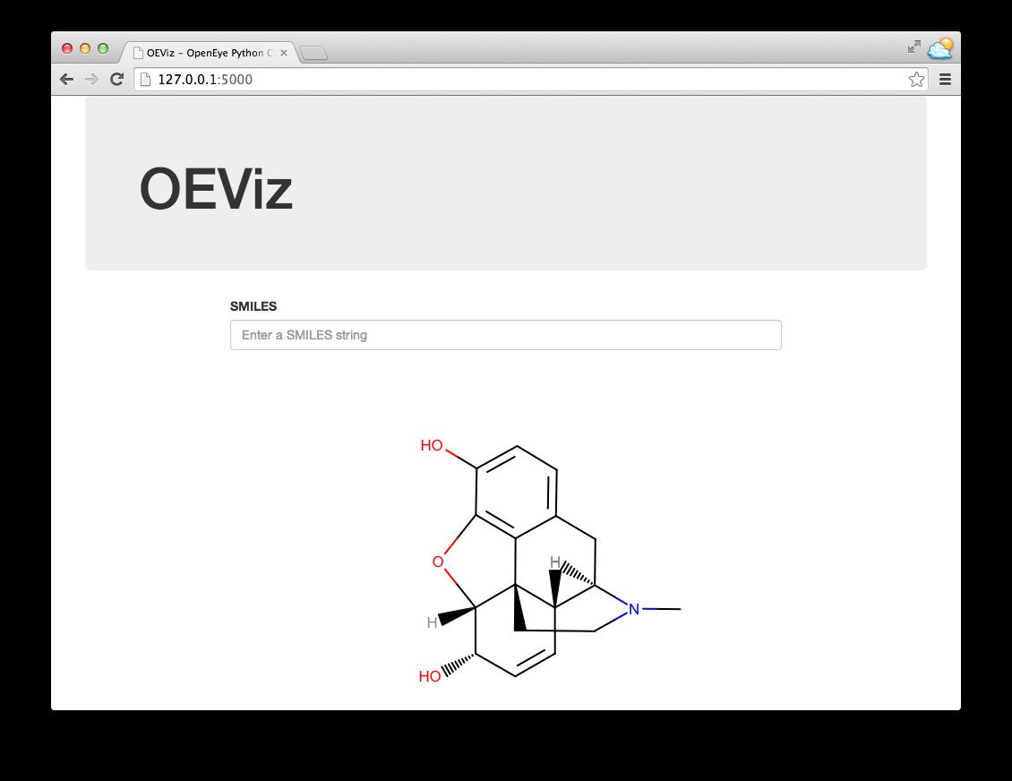 OEViz - A Simple Depiction Web Service — OpenEye Python