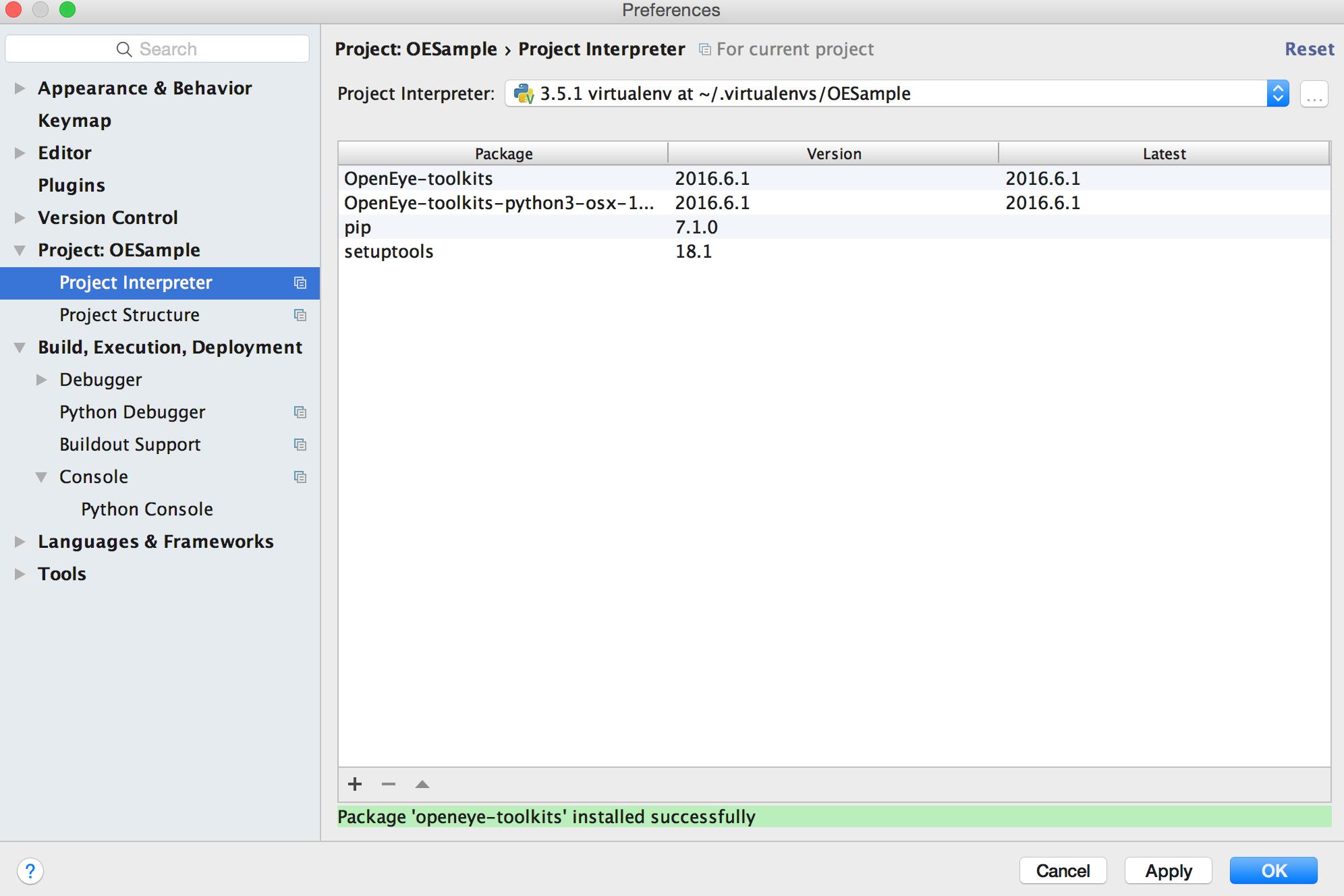 Using PyCharm — Toolkits -- Java